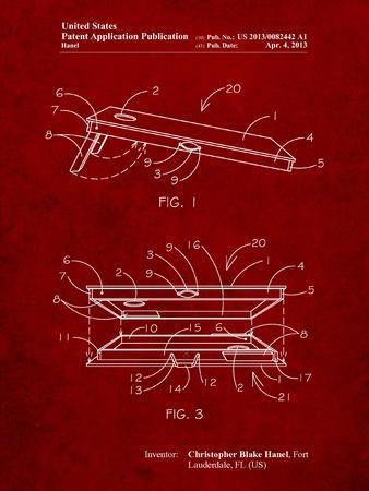Corn Hole Board Patent-Cole Borders-Framed Art Print