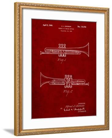 York Trumpet 1939 Patent-Cole Borders-Framed Art Print
