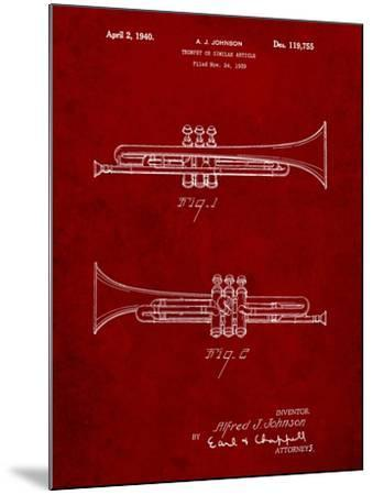 York Trumpet 1939 Patent-Cole Borders-Mounted Art Print