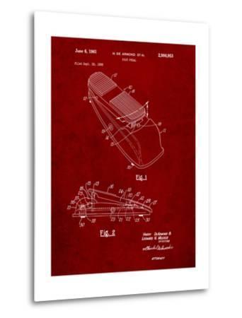 Horace N Rowe Wah Pedal Patent-Cole Borders-Metal Print