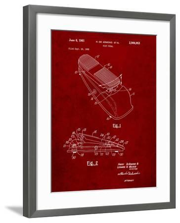 Horace N Rowe Wah Pedal Patent-Cole Borders-Framed Art Print