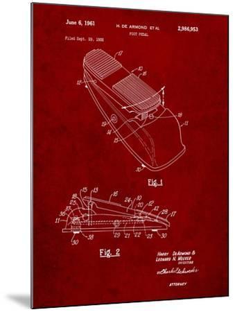 Horace N Rowe Wah Pedal Patent-Cole Borders-Mounted Art Print