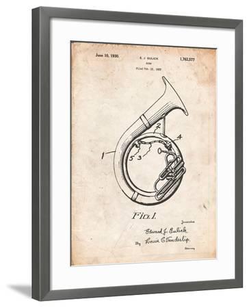 Sousaphone Patent-Cole Borders-Framed Art Print