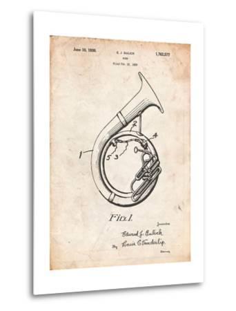 Sousaphone Patent-Cole Borders-Metal Print