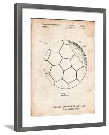 Soccer Ball Layers Patent-Cole Borders-Framed Art Print