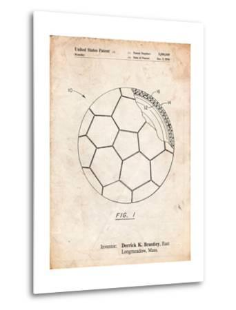 Soccer Ball Layers Patent-Cole Borders-Metal Print