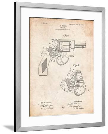 Smith and Wesson Revolver Pistol-Cole Borders-Framed Art Print