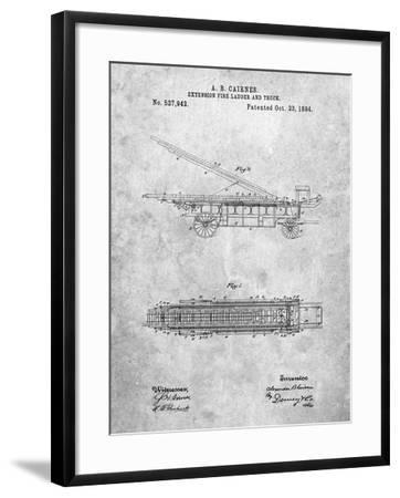 Fire Extension Ladder 1894 Patent-Cole Borders-Framed Art Print