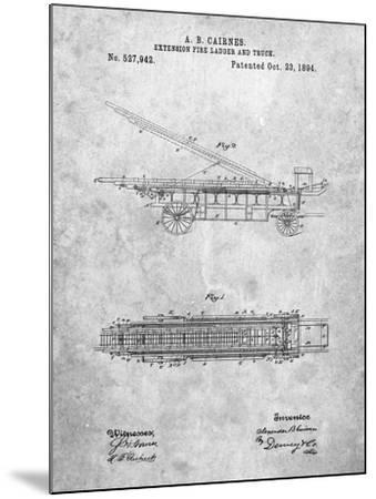 Fire Extension Ladder 1894 Patent-Cole Borders-Mounted Art Print