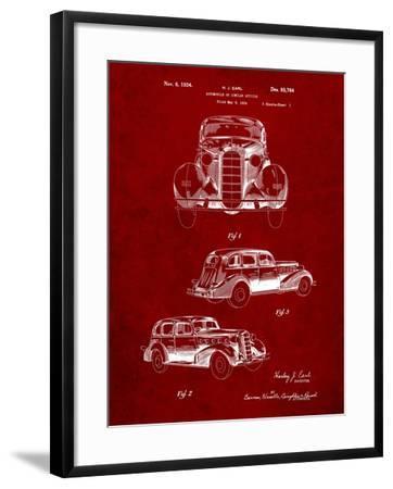 1934 Buick Automobile Patent-Cole Borders-Framed Art Print