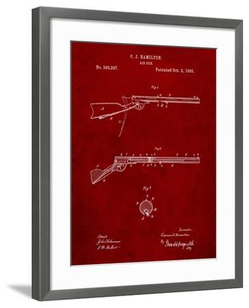 Daisy Air Rifle Patent Art-Cole Borders-Framed Art Print
