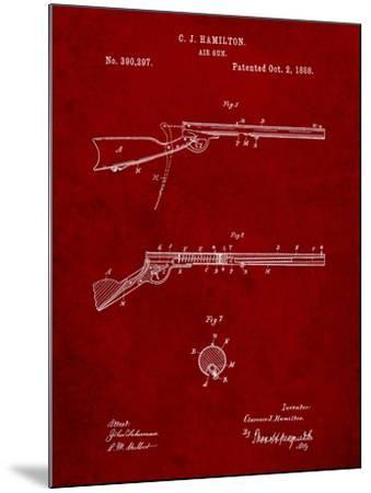 Daisy Air Rifle Patent Art-Cole Borders-Mounted Art Print