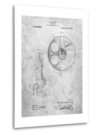 Film Reel 1915 Patent-Cole Borders-Metal Print