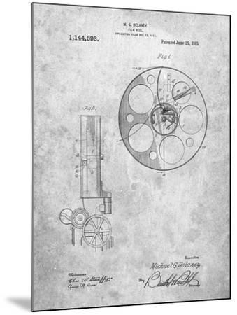 Film Reel 1915 Patent-Cole Borders-Mounted Art Print