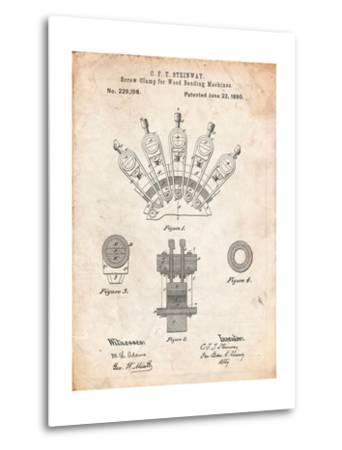 Screw Clamp 1880 Patent-Cole Borders-Metal Print
