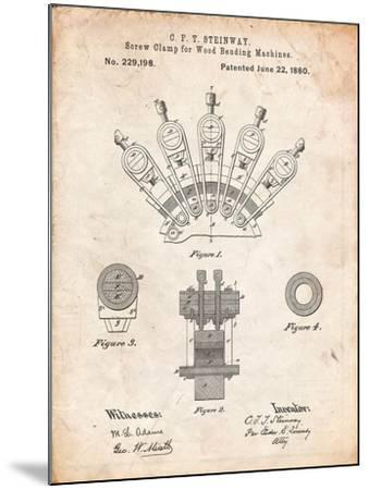 Screw Clamp 1880 Patent-Cole Borders-Mounted Art Print