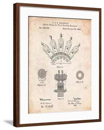 Screw Clamp 1880 Patent-Cole Borders-Framed Art Print