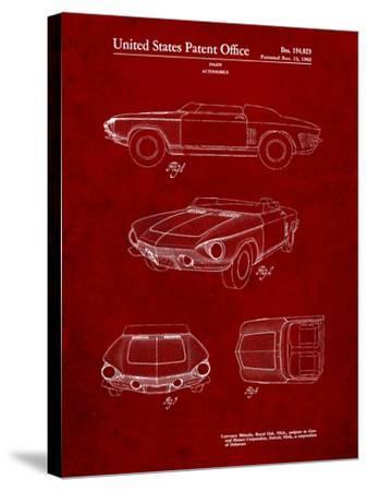 1962 Chevrolet Covair Super Spyder Concept Patent Print-Cole Borders-Stretched Canvas Print