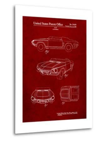 1962 Chevrolet Covair Super Spyder Concept Patent Print-Cole Borders-Metal Print