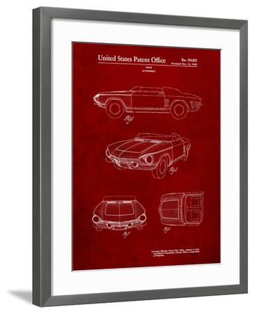 1962 Chevrolet Covair Super Spyder Concept Patent Print-Cole Borders-Framed Art Print
