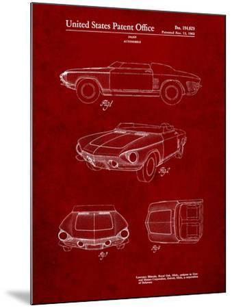 1962 Chevrolet Covair Super Spyder Concept Patent Print-Cole Borders-Mounted Art Print
