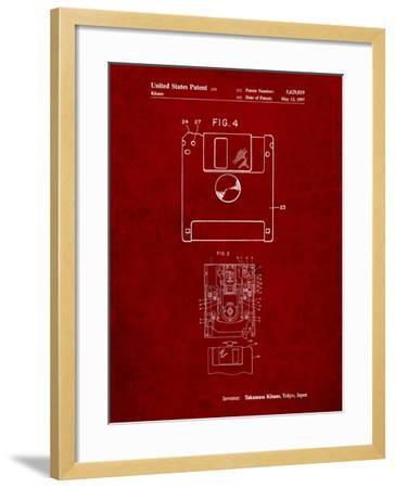 3 1/2 Inch Floppy Disk Patent-Cole Borders-Framed Art Print