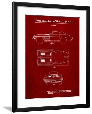 1962 Corvette Stingray Patent-Cole Borders-Framed Art Print