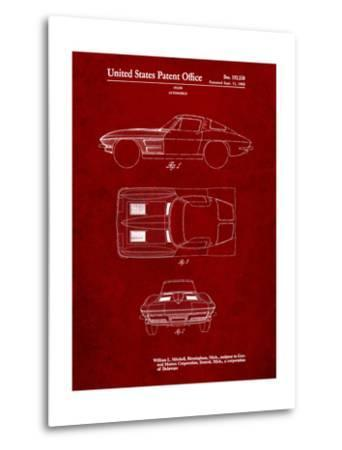 1962 Corvette Stingray Patent-Cole Borders-Metal Print