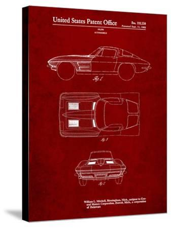 1962 Corvette Stingray Patent-Cole Borders-Stretched Canvas Print