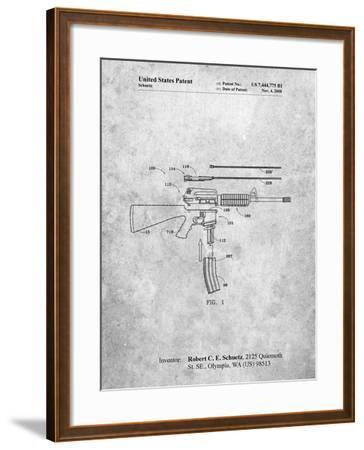 AR 15 Patent-Cole Borders-Framed Art Print