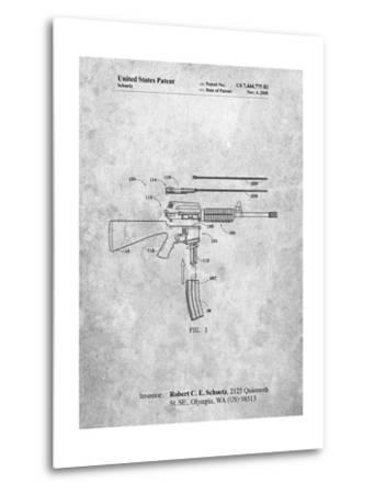 AR 15 Patent-Cole Borders-Metal Print