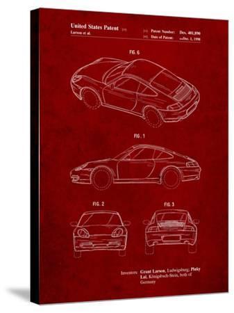 199 Porsche 911 Patent-Cole Borders-Stretched Canvas Print