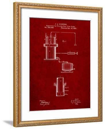 Antique Beer Cask Diagram Patent-Cole Borders-Framed Art Print