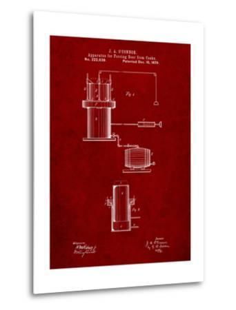 Antique Beer Cask Diagram Patent-Cole Borders-Metal Print