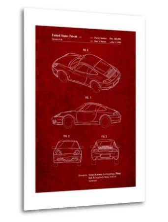 199 Porsche 911 Patent-Cole Borders-Metal Print