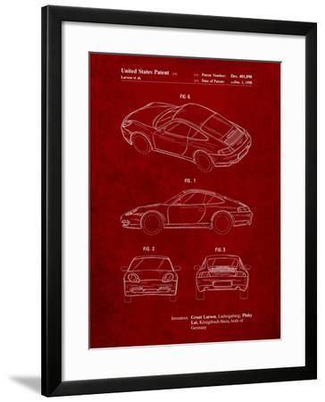 199 Porsche 911 Patent-Cole Borders-Framed Art Print