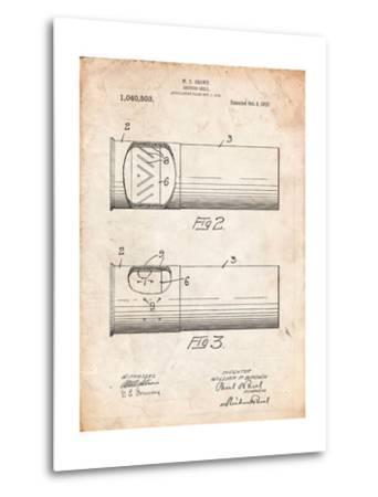 Shotgun Shell Patent Print-Cole Borders-Metal Print