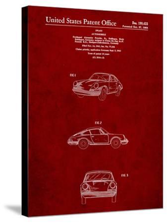 1964 Porsche 911 Patent-Cole Borders-Stretched Canvas Print