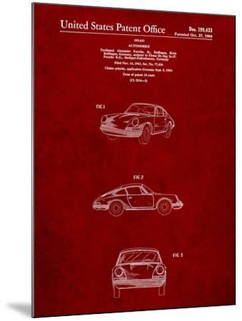 1964 Porsche 911 Patent-Cole Borders-Mounted Art Print