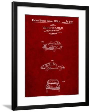 1964 Porsche 911 Patent-Cole Borders-Framed Art Print