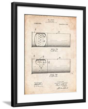 Shotgun Shell Patent Print-Cole Borders-Framed Art Print