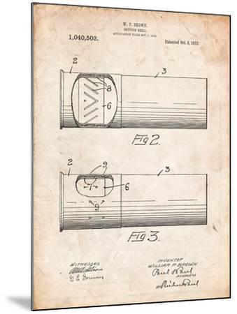 Shotgun Shell Patent Print-Cole Borders-Mounted Art Print