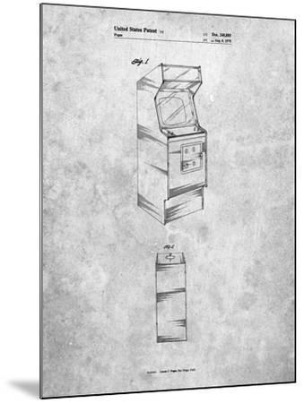 Arcade Game Cabinet Patent-Cole Borders-Mounted Art Print