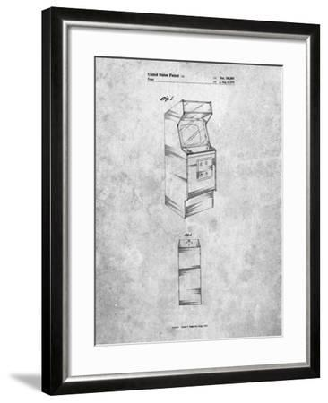 Arcade Game Cabinet Patent-Cole Borders-Framed Art Print