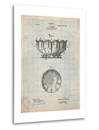Haviland Decorative Bowl Patent-Cole Borders-Metal Print