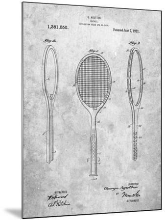 Vintage Tennis Racket Patent-Cole Borders-Mounted Art Print