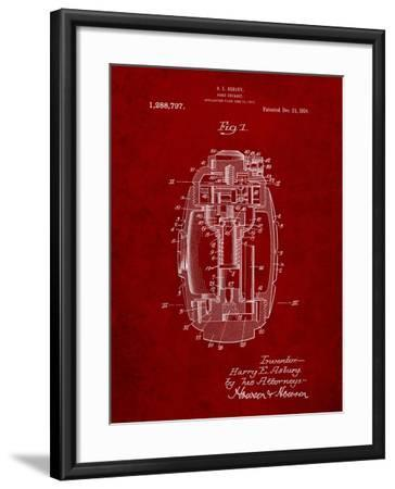 Hand Grenade World War 1 Patent-Cole Borders-Framed Art Print