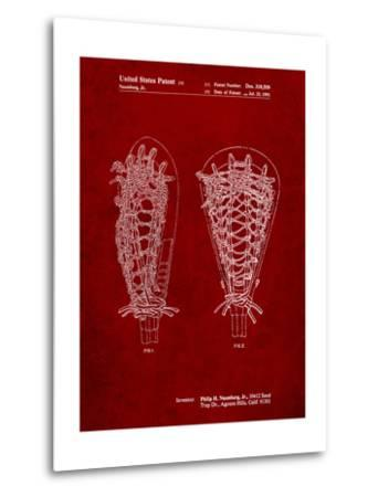 Lacrosse Stick Patent-Cole Borders-Metal Print