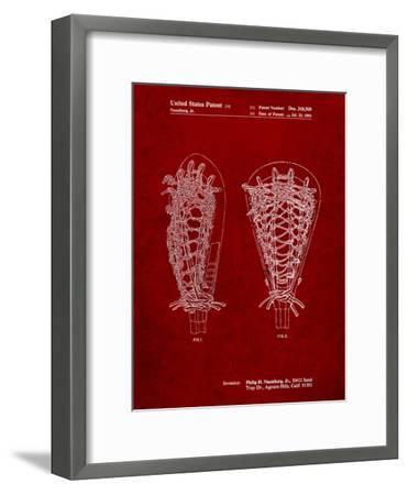 Lacrosse Stick Patent-Cole Borders-Framed Art Print