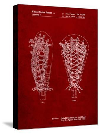 Lacrosse Stick Patent-Cole Borders-Stretched Canvas Print